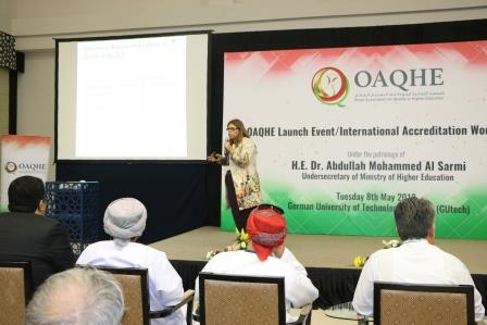 CEO of CLICKS Speaks at the official launch event of the Oman Association for Quality in Higher Education
